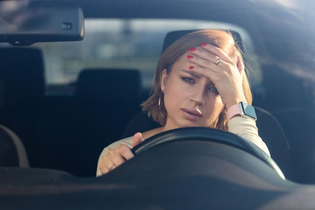nervous tension mental health social pressures women emotional adult angry annoyed auto automobile burnout car caucasian